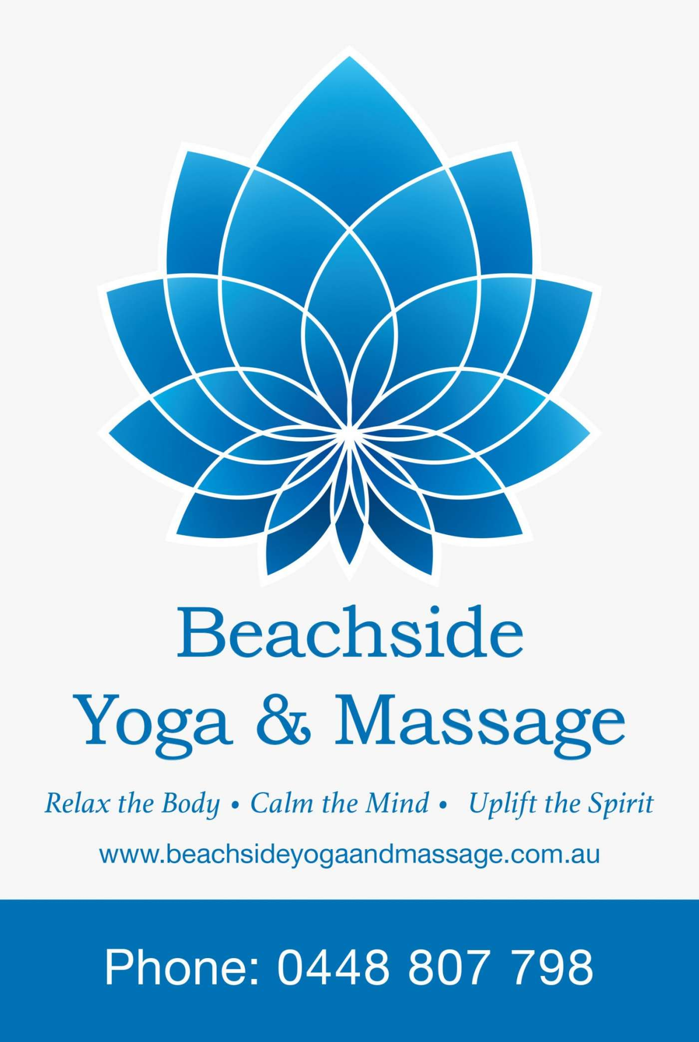 Signage for Beachside Yoga & Massage