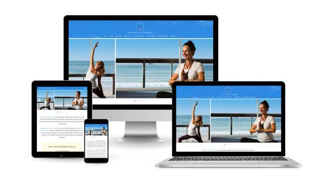 Website design for Beachside Yoga And Massage