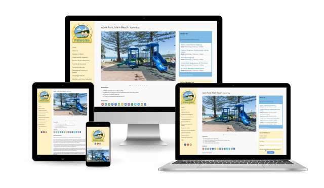 Website design for Byron4Kids