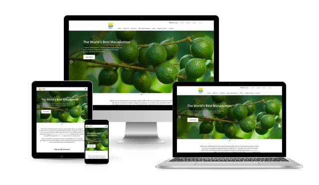 Website design for Macadamia Processing Company