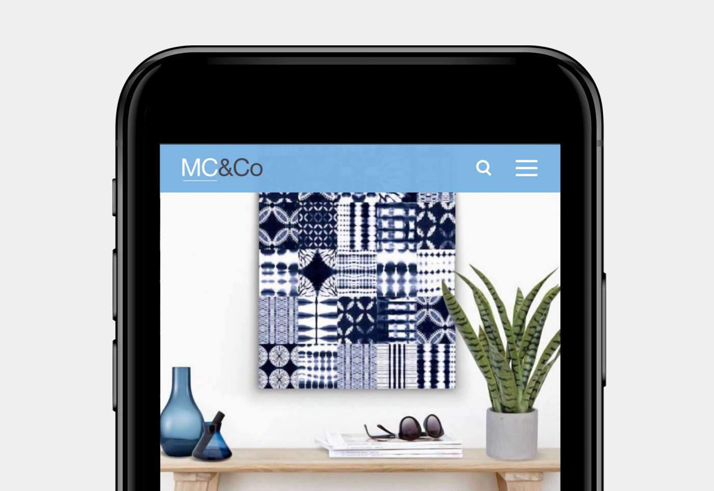 Web design for MC&Co trend page mobile view.