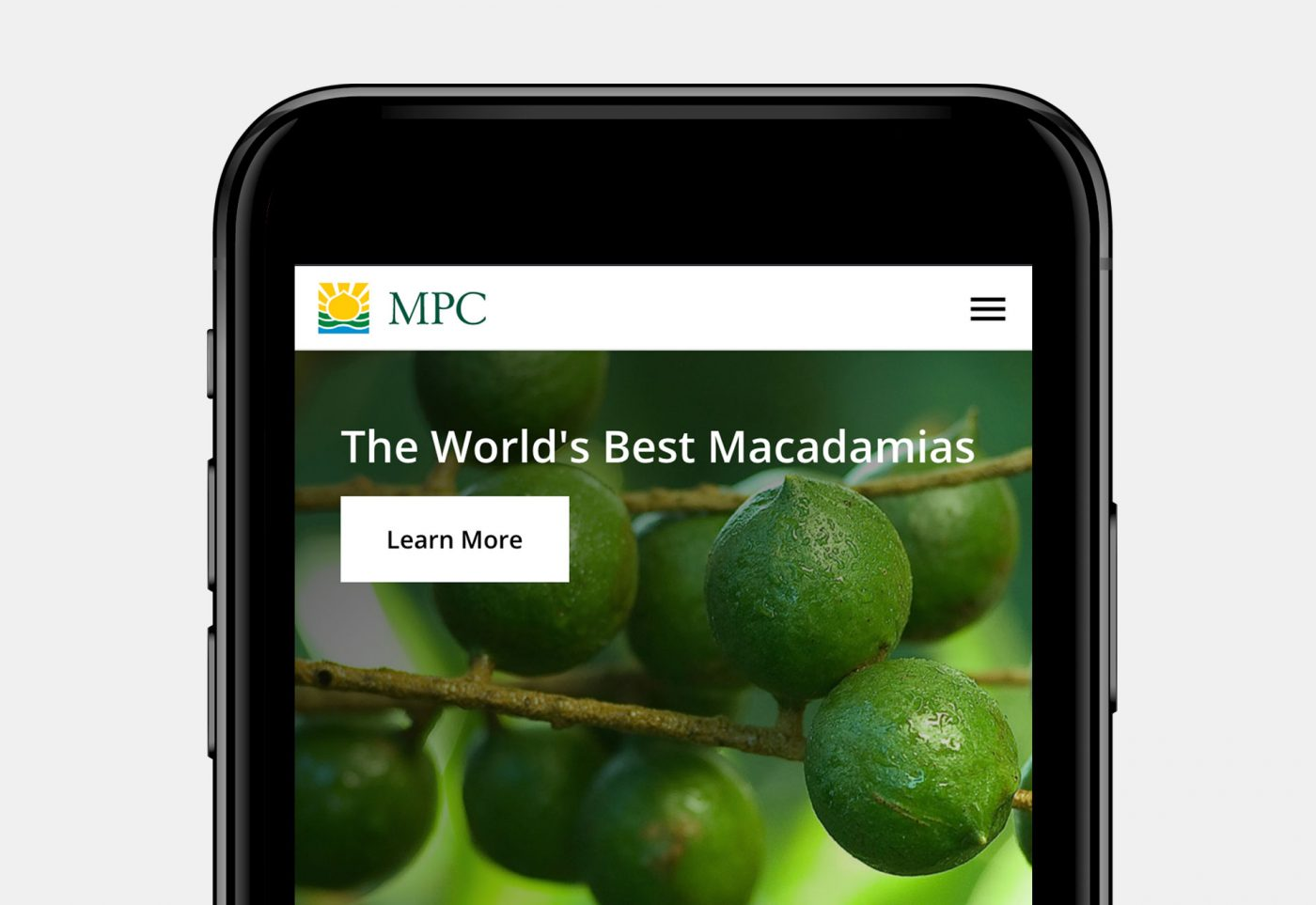 web design for MPC mobile view